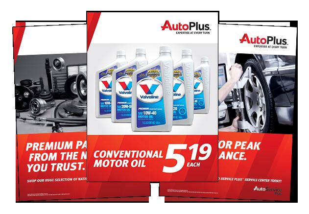 Auto Plus marketing materials
