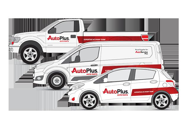 Auto Plus vehicle branding